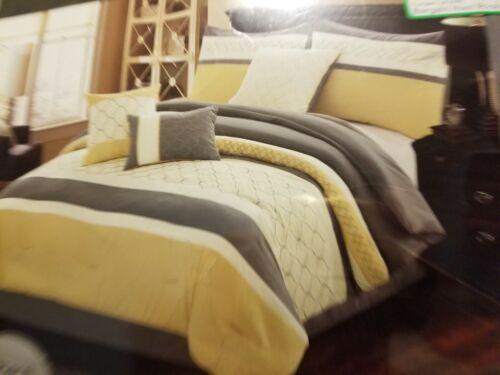 Hallmart Collectibles Verdugo 7 Piece Queen Comforter Set, Yellow