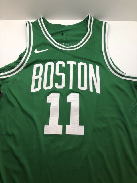 NIKE AUTHENTIC ICON KYRIE IRVING BOSTON CELTICS NBA JERSEY GREEN WHITE sz  48 L 70529bbb5f35