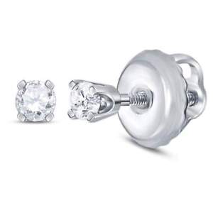 14kt-White-Gold-Girls-Infant-Round-Diamond-Solitaire-Stud-Earrings-1-20-Cttw