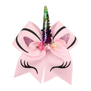 Holder  Girls Rubber Band Unicorn Horn Headband Glitter Sequin