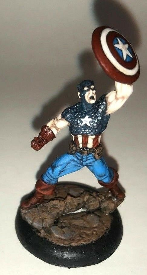 Painted Knight Models Marvel Universe Miniatures Game  Captain America