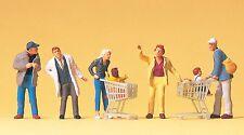Preiser 10492 H0 Beim Einkaufen, 6 Figuren, handbemalt, Neuware