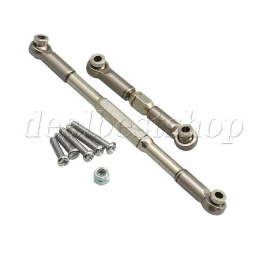 2x RC1:16 Adjustable Aluminum Steering Servo Linkages WPL1607 for B16 Cars