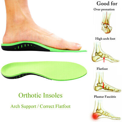 High Arch Support Flat Feet Foot Orthotic Insoles Leather For Plantar Fasciitis