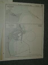 Vintage Admiralty Chart 2284 BLACK SEA - CONSTANTA & GURA SULINA 1968 edn