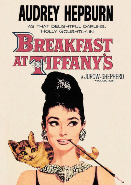 Breakfast at Tiffany s Audrey Hepburn Poster A3 Canvas Size Print Movie Modern