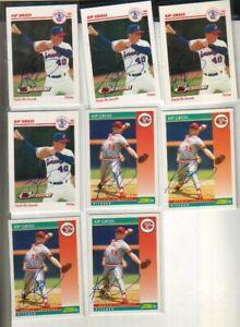 (8) Kip Gross Autographed Baseball Cards 2 DIFFERENT Reds