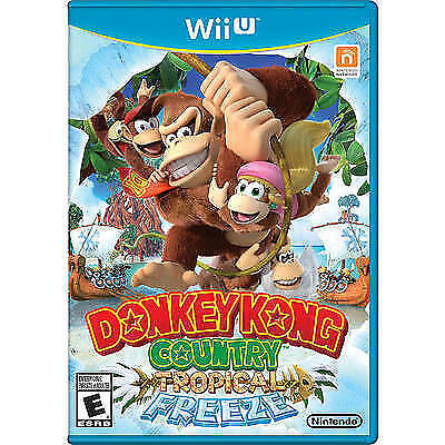 Donkey Kong Country: Tropical Freeze (Nintendo Wii U, 2014) COMPLETE