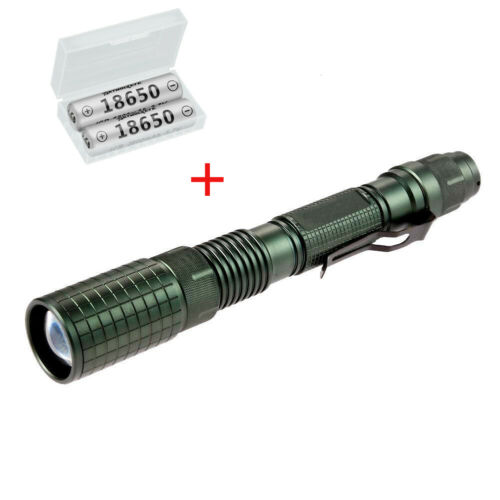 5 Pack Aluminum 50000LM Tactical T6 LED 18650 Flashlight Zoom 5 Modes Torch RR