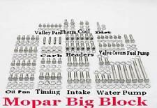 Mopar Engine Bolts Kit Big Block 383 400 413 426 Wedge 440 Stainless Steel Hex