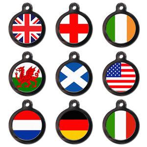FLAG-PET-TAGS-Union-Flag-Pet-Dog-Cat-Name-ID-Tag-Pet-Flag-Tags-Engraved-FREE