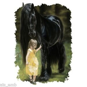 Barn-Horse-HEAT-PRESS-TRANSFER-PRINT-for-T-Shirt-Tote-Bag-Sweatshirt-Fabric-244f