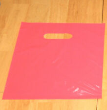 """75 9"""" x 12"""" HOT CANDY PINK  GLOSSY Low-Density Plastic Merchandise Bags"""