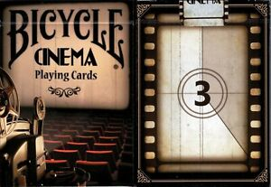 Cinema-Bicycle-Playing-Cards-Poker-Size-Deck-USPCC-Custom-Limited-New-Sealed