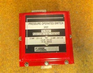 Fenwal Kidde 486536 Pressure Operated Switch 3/4HP 250VAC 3PDT 10 Amp