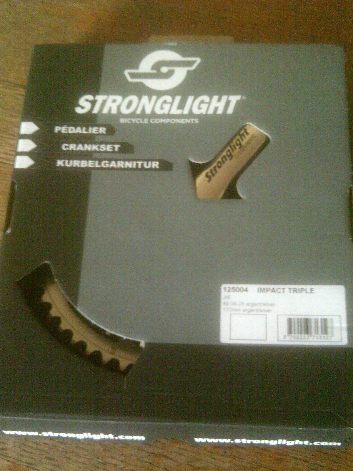 STRONGLIGHT IMPACT 9 10 SPEED TRIPLE CHAINSET, 28 38 48