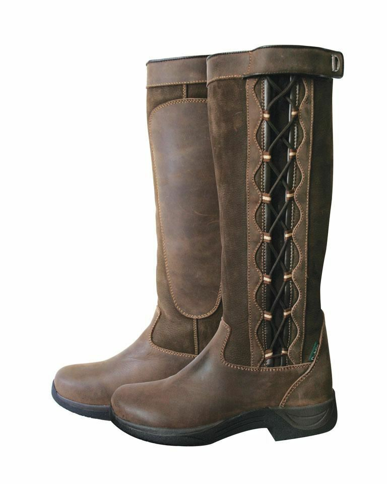Dublin Riding Pinnacle Ladies Waterproof Horse Riding Dublin Walking Leather Country Boots 5ce5bd