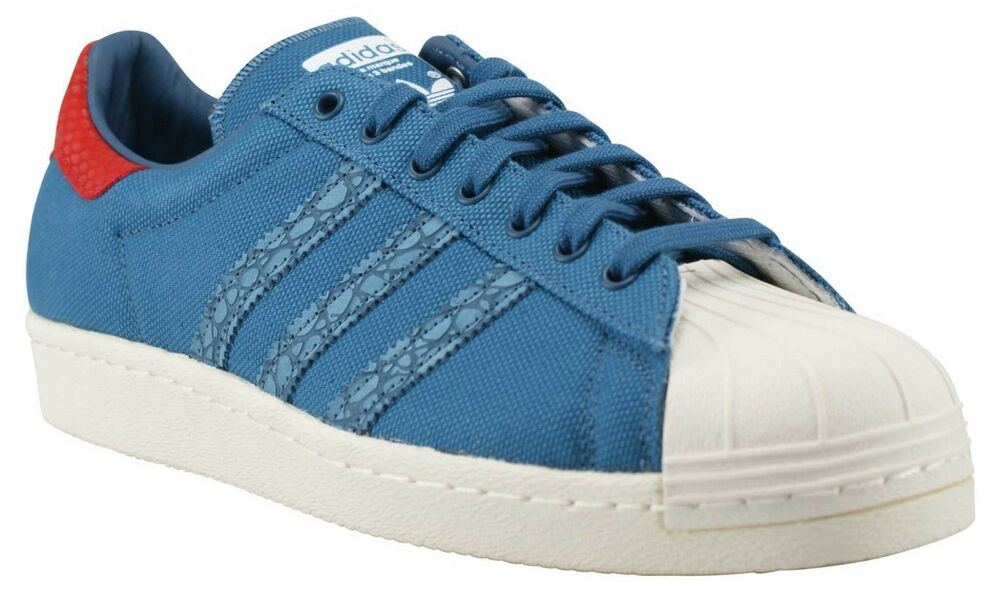 NIB Adidas homme Superstar 80S Animal Oddity S75004 chaussures Choose Taille Bleu