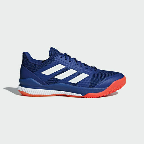 Mens Adidas Stabil Bounce Shoes Sneakers Size 9.5 Blue White Orange B22648 Court