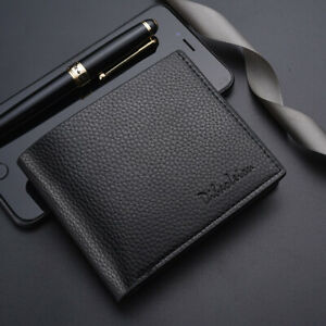 Men-PU-Leather-ID-credit-Card-Holder-Clutch-Bifold-Coin-Purse-Wallet-Pockets