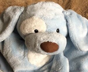 Baby Gund Comfy Cozy Spunky Blue Dog Blanket Lovey Travel Naptime