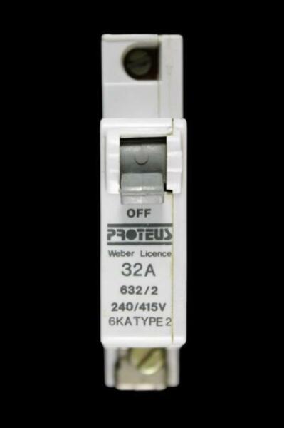 Proteus 20 Amp TYPE 2 disjoncteur mcb M6 620//2