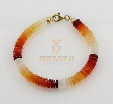 Feueropal Armband Gemini Gemstones  Feueropal aus Mexiko Feueropal echt 18 cm