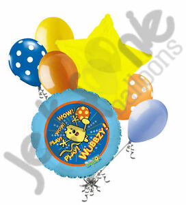 Image Is Loading 7 Pc Wow Wow Wubbzy Balloon Bouquet Happy