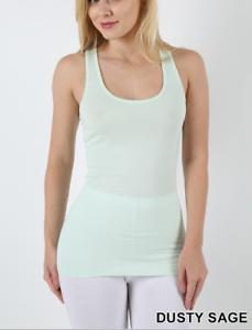 7217c93909250 New Zenana Outfitters M Stretch Cotton Jersey Racer Back Tank Top ...