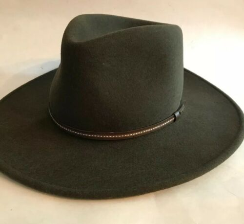 Stetson Crushable Wool Hat Cowboy Fedora Green Gal