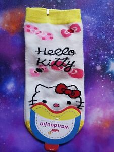 8093a7895 Ladies Hello Kitty Socks Kawaii Harajuku Emo Pastel Goth Size 22-24 ...