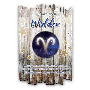 Wandbild-Sternzeichen-Widder-Shabby-aus-Holz-mit-Spruch-und-Motiv-Wand-Deko