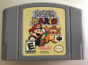 PAPER-MARIO-Game-Cartridge-Card-for-Nintendo-64-N64-Console-US-Version
