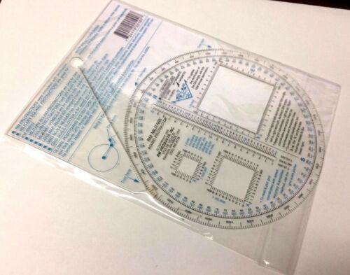 RM PRODUCTS Military Round Protractor Blue