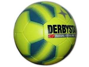 Derbystar Goal Pro Futsal gelb Hallenball Indoor Fußball Gr.4 sprungreduziert