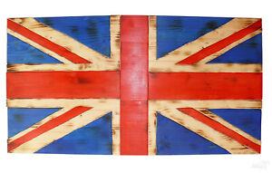 Diligent United Kingdom Rustic Wooden Flag Fantasy, Uk Bois Drapeau Rustique Panneau Bois Des Paumes-afficher Le Titre D'origine