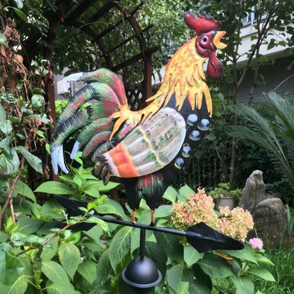Rooster Weathervane Garden Outdoor Weather Vane Wind Indicator Ornament UK