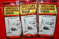 1-lot Of 6 / Total Care Hoover Celebrity / Type h T-47 Vacuum Bags (s6657)