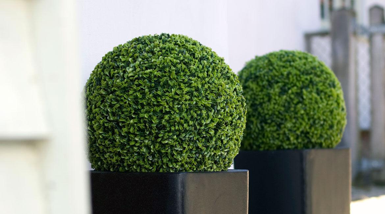 Artificial Buxus Balls Hanging Topiary Boxwood Wedding Fake Plants Door Plants