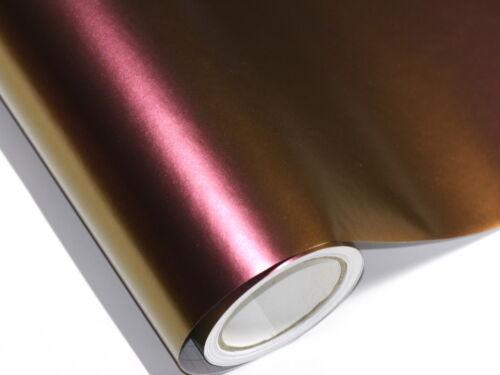Autofolie Flip Flop Chameleon Lila wird zu Gold 100cm x 152cm mit Luftkanäle