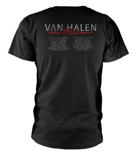 """VAN HALEN/"""" 1984 Tour/"""" Noir T-shirt-NOUVEAU /& OFFICIEL!"""