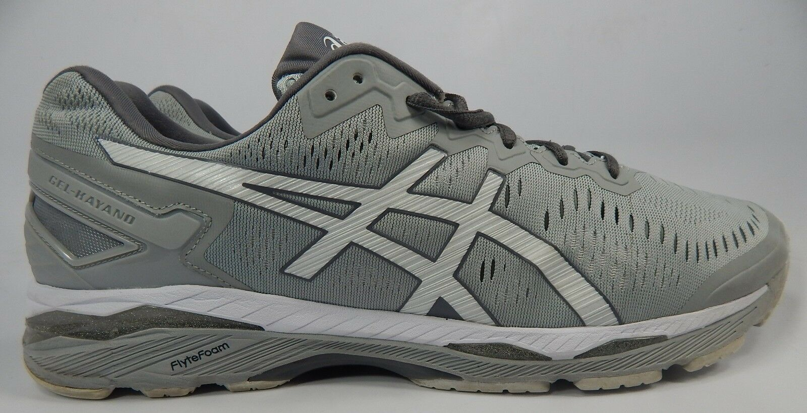 Asics Gel Kayano 23 Size US 14 M (D) Men's Running Shoes Gray White T646N