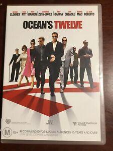 OCEAN-S-TWELVE-George-Clooney-Brad-Pitt-Matt-Damon-VGC-DVD-R4-PAL