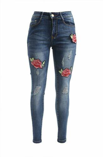 Pantalón Vaquero Para Mujer Cintura Alta Elástica Pantalones Jeggings Pantalones Señoras Skinny Lote