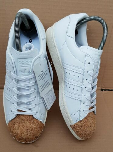 5 Adidas Size New Superstar Cork Uk White 80's Boxed Rare Trainers Brand 05T6qxxH
