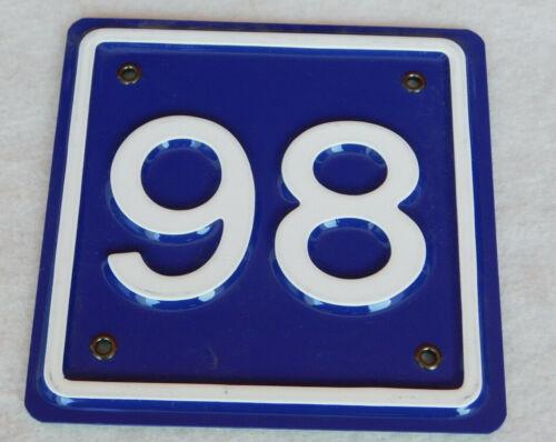 PLAQUE ADRESSE MURALE FACADE mur MAISON APPATEMENT numéro N°98 WALL number