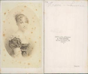 Tournier-Paris-Marie-Louise-imperatrice-CDV-vintage-albumen-carte-de-visite