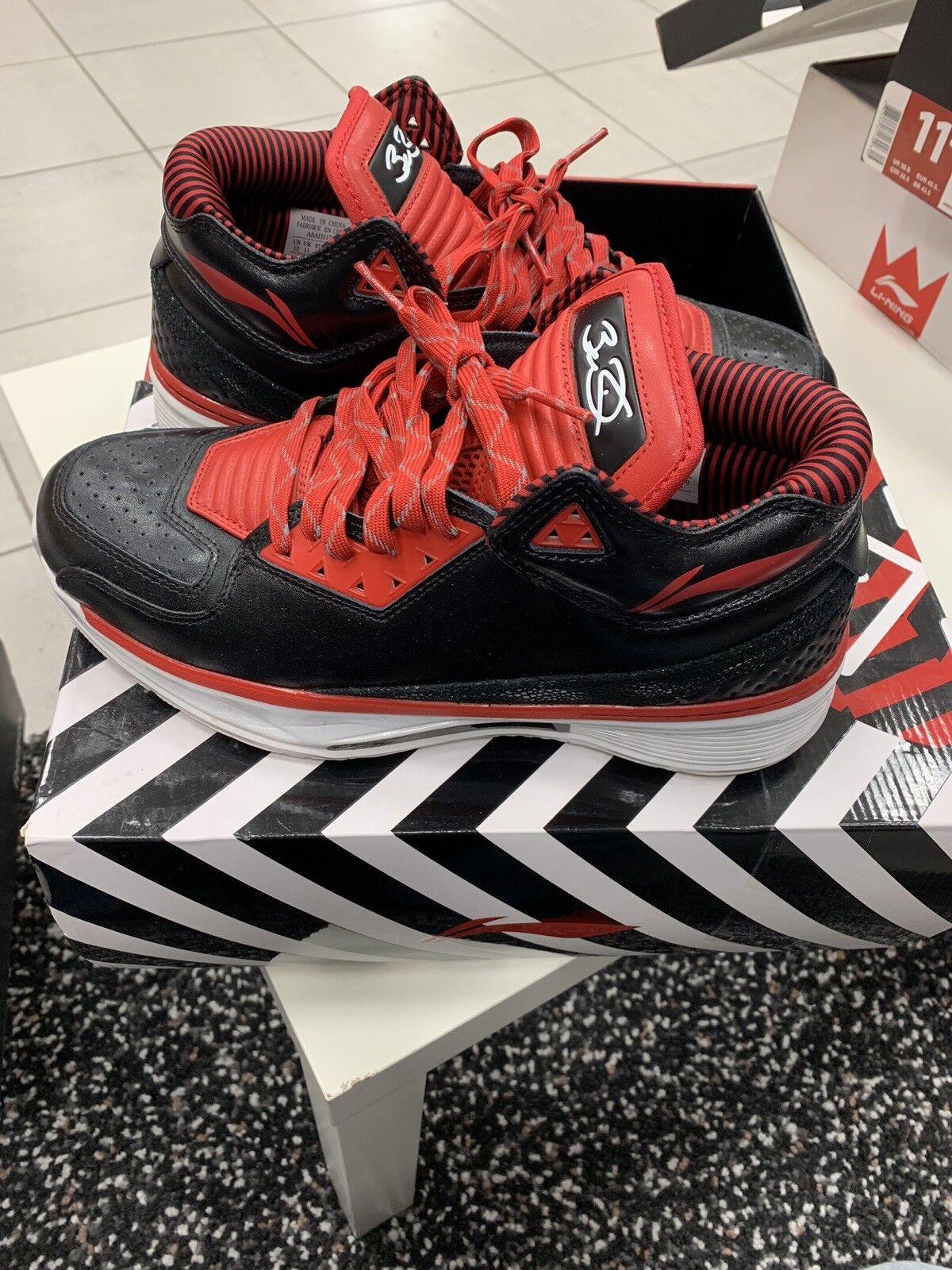 Uomo Li-Ning Way of of of Wade 2 WOW ABAH017-2 nero rosso Sz 12 scarpe e803ee