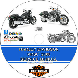 image is loading harley-davidson-vrsc-models-2008-service-repair-manual-