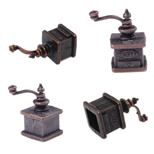 1//12 Dollhouse Miniature Kitchen Vintage Coffee Grinder For Doll Gift SK
